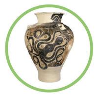 Storage Jar with Octopus Design