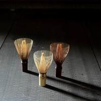 Three traditional Japanese tea whisks