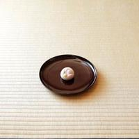 Japanese sweet on a plate
